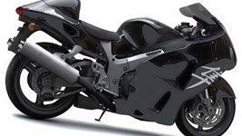 Suzuki Hayabusa Pure Black wallpaper small