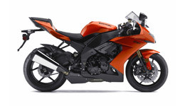 2009 Kawasaki Ninja ZX 10R Orange small