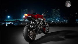 Ducati Motor Bike At Night wallpaper