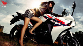 Honda CBR with Sexy Girl small